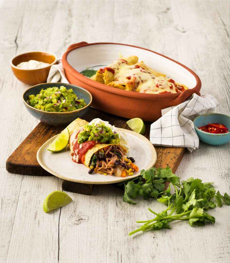 Borrowdale Tex-Mex Pulled Pork Enchiladas